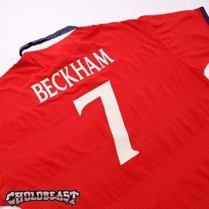 VTG 2000 Umbro England David Beckham Euro Jersey